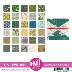 SUMMER CRANES WASHI PAPER STICKERS
