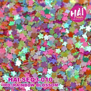 rainbow blossoms sequins