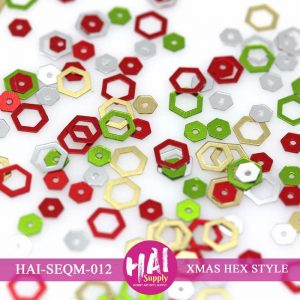 XMAS HEX STYLE SEQUINS