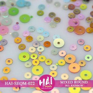 MIXED ROUND IRD RAINBOW SEQUINS