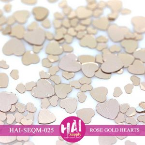 ROSE GOLD HEARTS SEQUINS