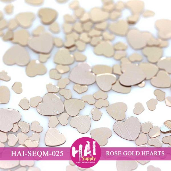 ROSE GOLD HEARTS SEQUINS