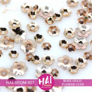 ROSE GOLD FLOWER CUPS SEQUINS