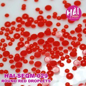 round red droplets sequins