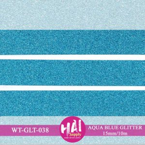 AQUA BLUE GLITTER WASHI TAPE