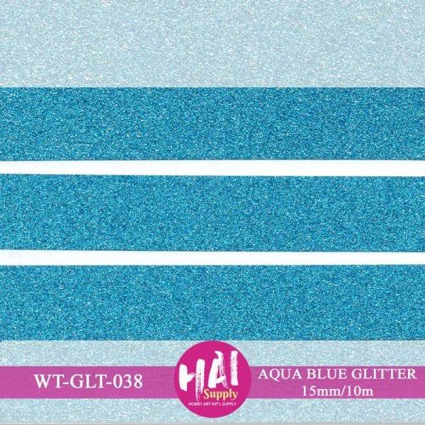 AQUA BLUE GLITTER WASHI TAPE