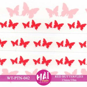RED BUTTERFLIES WASHI TAPE