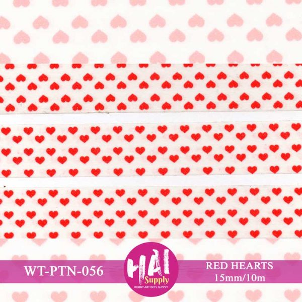 RED HEARTS WASHI TAPE