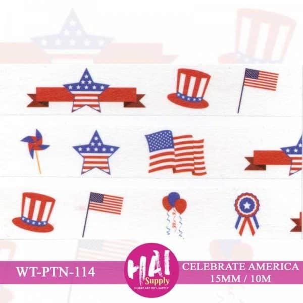 AMERICAN FLAG WASHI TAPE