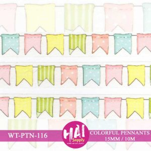 COLORFUL PENNANTS WASHI TAPE