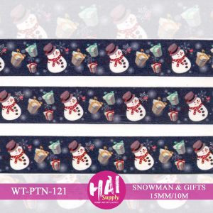 SNOWMAN & GIFTS WASHI TAPE