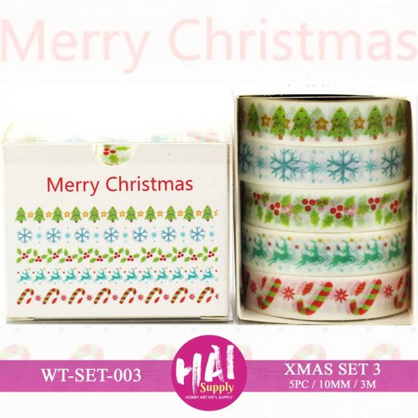 XMAS SET WASHI TAPE
