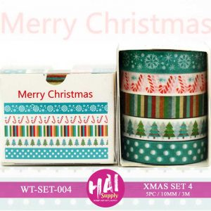 XMAS SET 4 WASHI TAPE