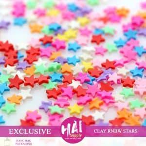 Clay rainbow stars